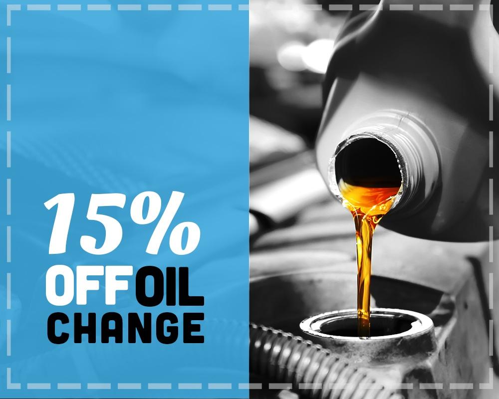 15% Off Oil Change