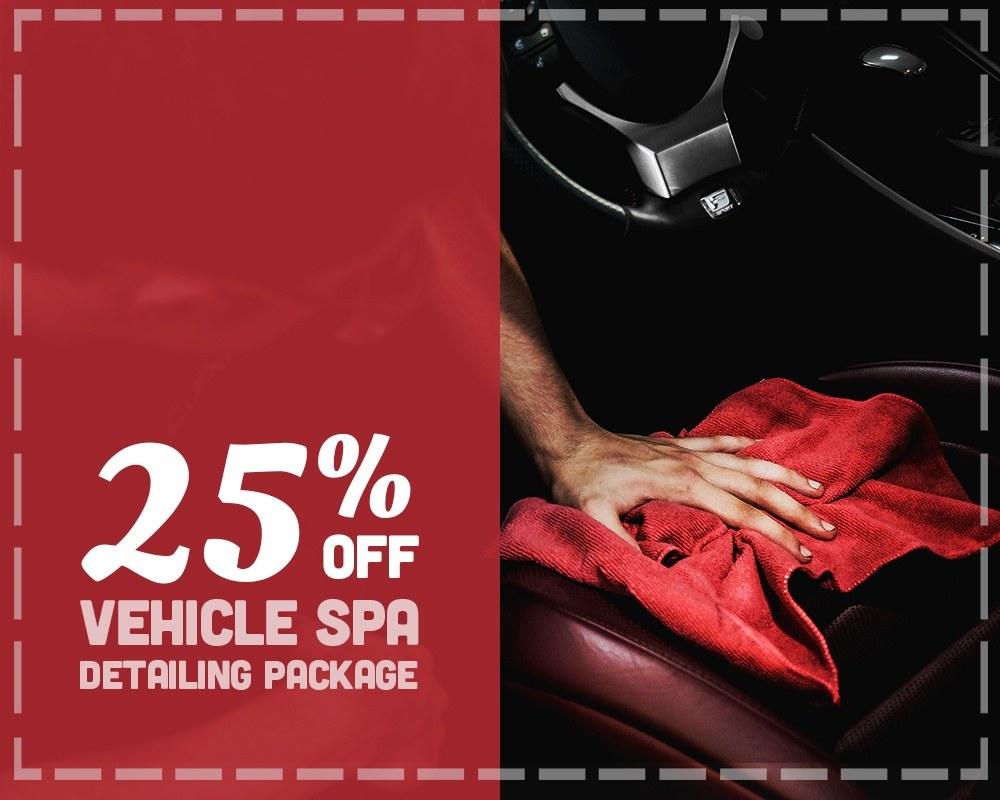 25% Off Vehicle Spa