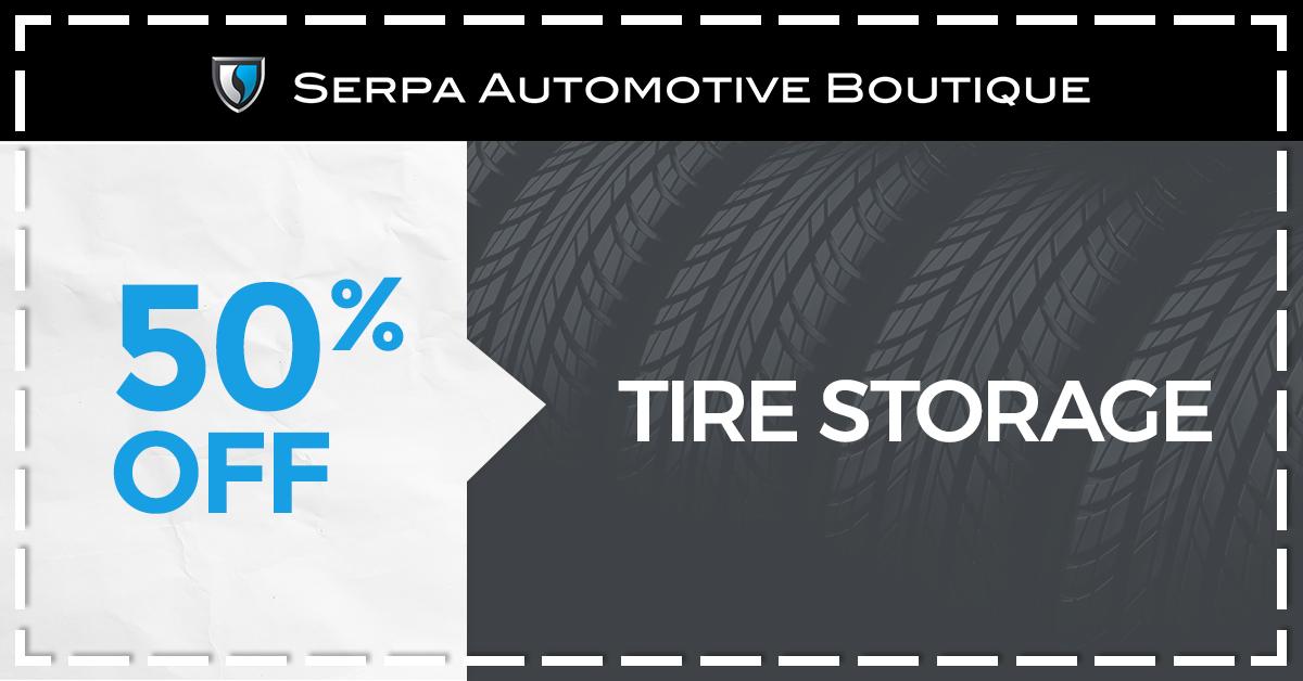 50% off Tire Storage